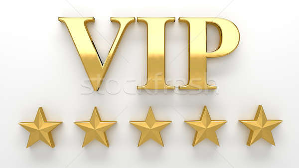 VIP - Very important person - gold 3D render on the wall backgro Stock photo © akaprinay