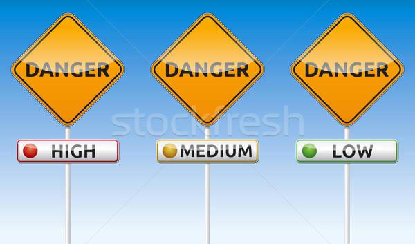 Danger - high, medium, low Stock photo © akaprinay