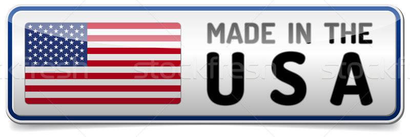 USA bandiera Stati Uniti america lucido pulsante Foto d'archivio © akaprinay