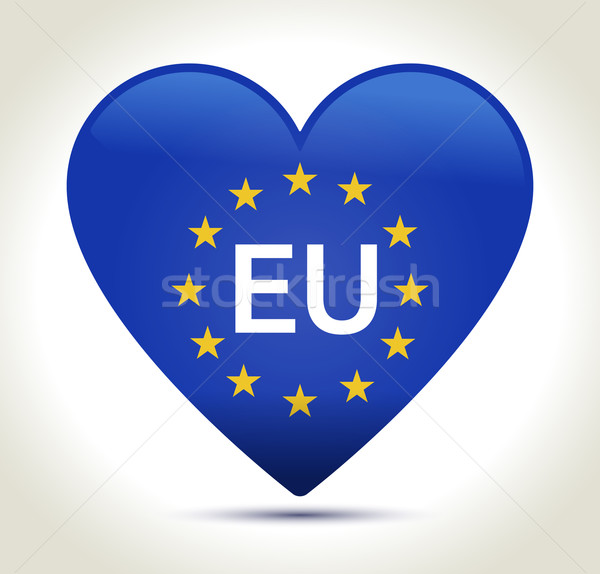 00245-eu-flag-heart-2 Stock photo © akaprinay