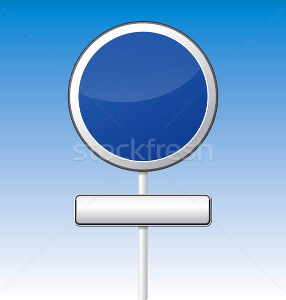 Informatie weg boord geïsoleerd vector reflectie Stockfoto © akaprinay