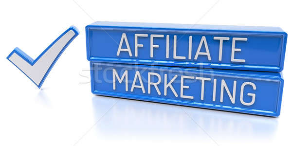 Marketing 3d render Blauw banners controleren Stockfoto © akaprinay