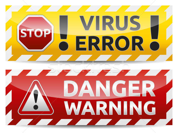 Virus warning banner Stock photo © akaprinay