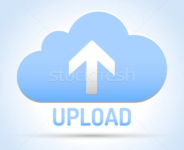 Upload Cloud network Stock photo © akaprinay