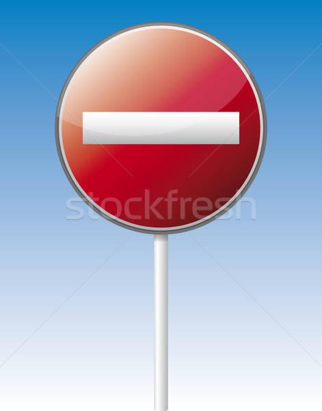 Verkeer boord geïsoleerd vector reflectie Stockfoto © akaprinay