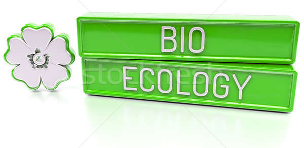 Stock photo: Bio Ecology - 3d banner, isolated on white background