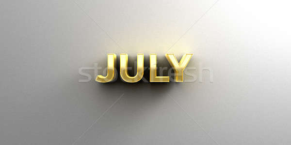 July month gold 3D quality render on the wall background with so Stock photo © akaprinay