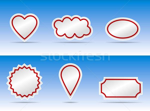 Afiş renk varyasyon kalp kabarcık diğer Stok fotoğraf © akaprinay