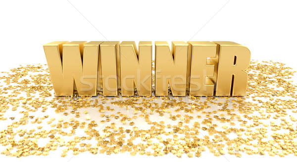 Winner with stars on white background - High quality 3D Render Stock photo © akaprinay