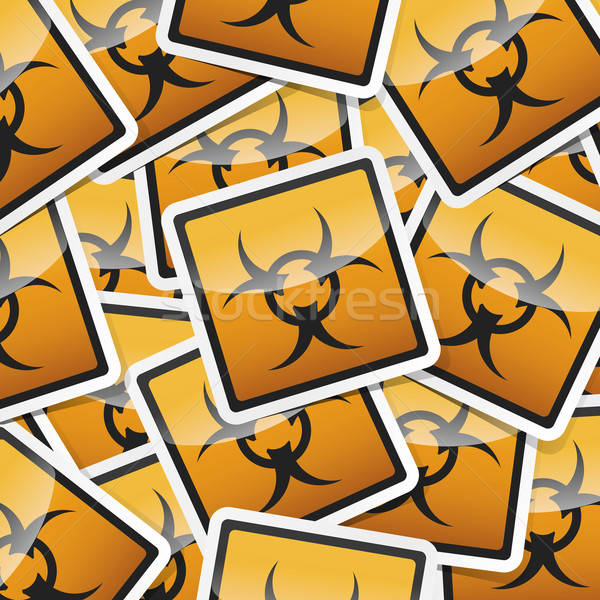 sticker-danger-symbols Stock photo © akaprinay