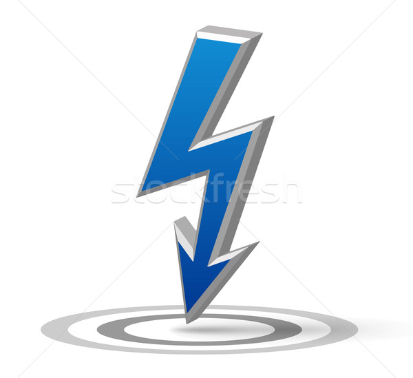 Blue Flash arrow Stock photo © akaprinay