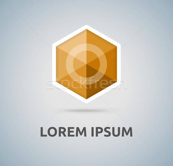 Hexagon abstract vector logo for your company, isolated icon Stock photo © akaprinay