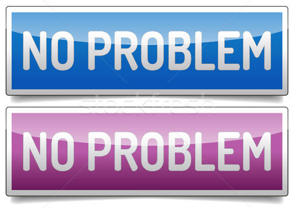 No problem symbol icon Stock photo © akaprinay