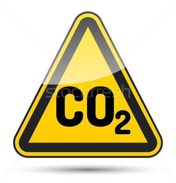 CO2 danger triangle Stock photo © akaprinay
