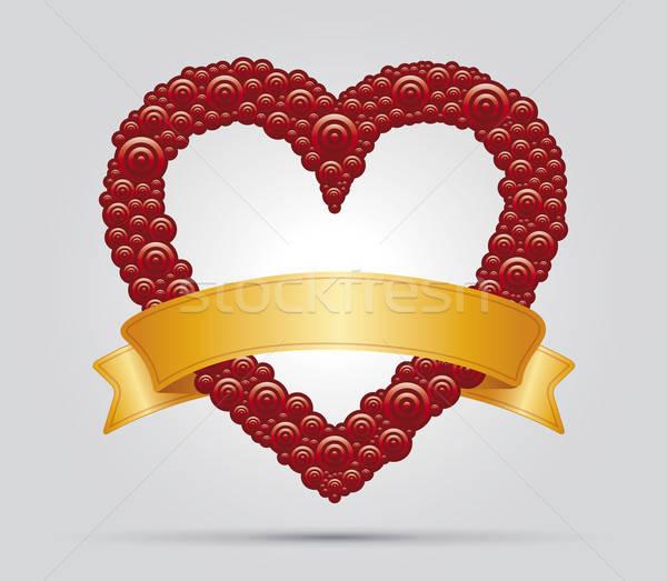 Heart and ribbon Stock photo © akaprinay