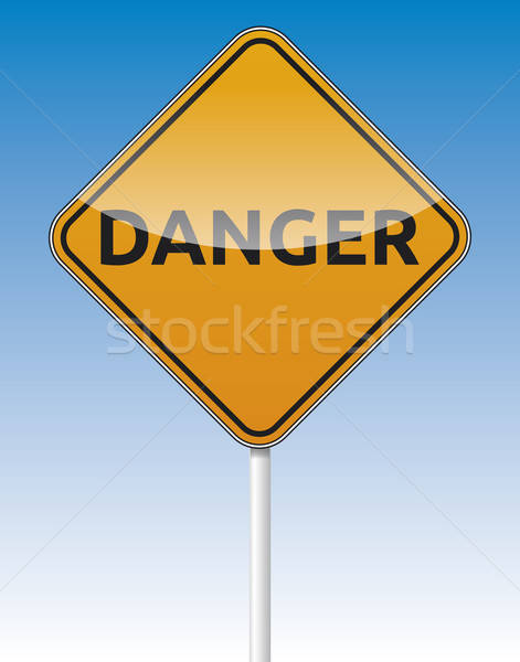 Danger traffic road board Stock photo © akaprinay