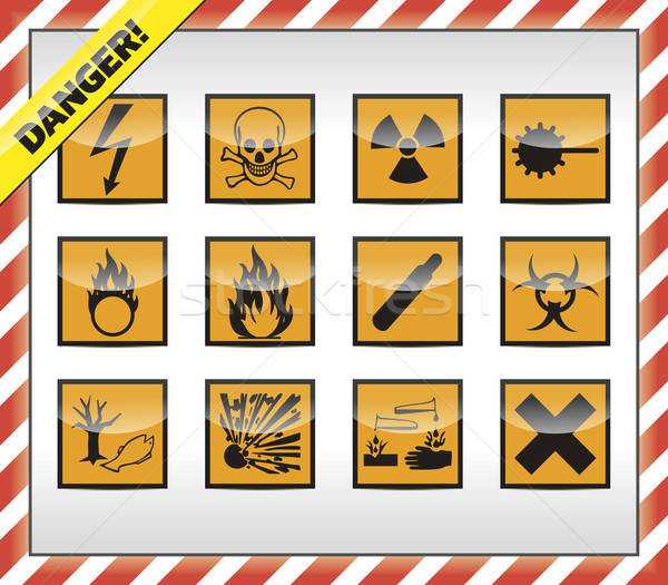 Stock photo: Danger symbols