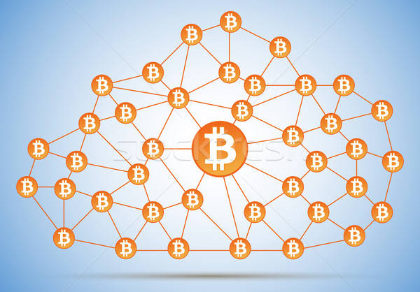 Bitcoin cloud net Stock photo © akaprinay