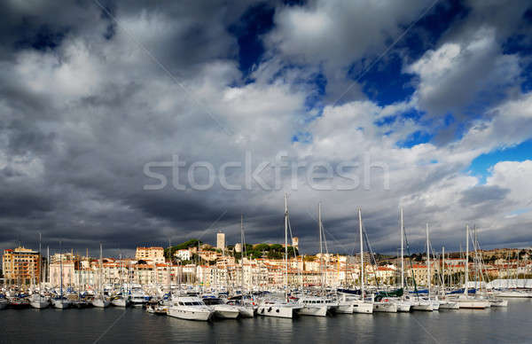 The city of Cannes, France Stock photo © akarelias