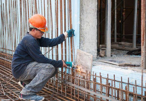 Aço autêntico elétrico serra Foto stock © akarelias