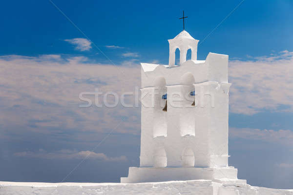 Belfry from a chapel on the island of Sifnos Stock photo © akarelias