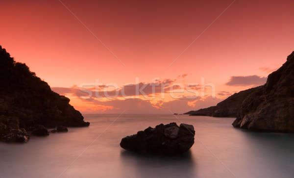 Güney Yunanistan gökyüzü bulutlar gün batımı doğa Stok fotoğraf © akarelias