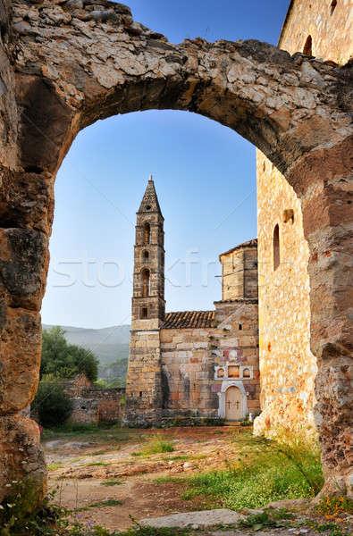 Velho igreja imagem histórico cidade Foto stock © akarelias