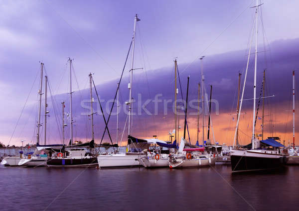 The marina in Kalamata, Greece Stock photo © akarelias