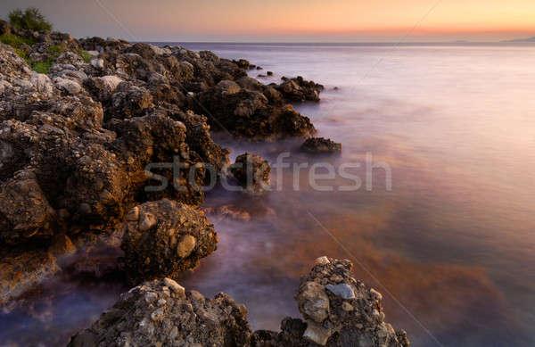 Zdjęcia stock: Spokojny · pejzaż · morski · obraz · wygaśnięcia · charakter