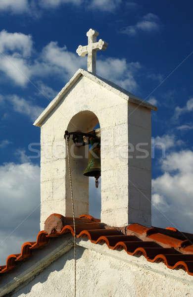 Grego capela azul nublado céu Foto stock © akarelias