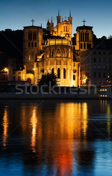 Lyon erken akşam resim Stok fotoğraf © akarelias
