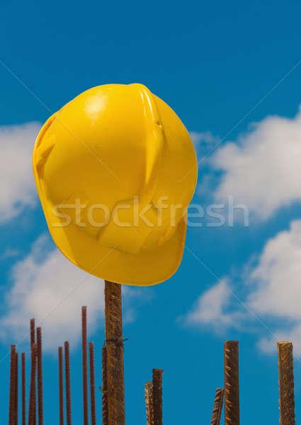 строительство шлема стали баров подвесной небе Сток-фото © akarelias
