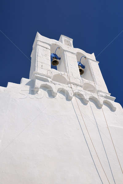 Belfry on Greek island of Sifnos Stock photo © akarelias