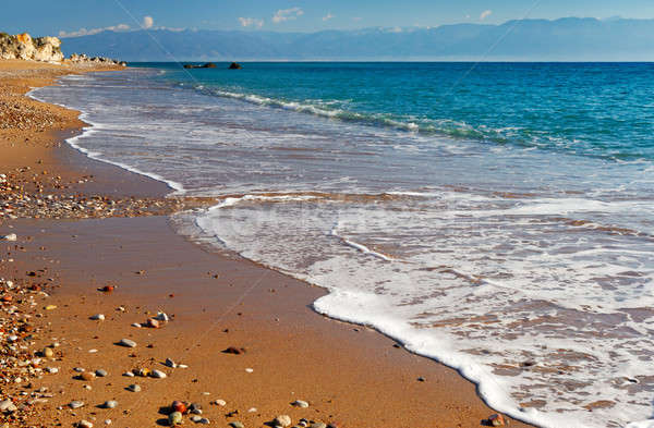 Long and inviting sandy beach in the Mediterranean Stock photo © akarelias