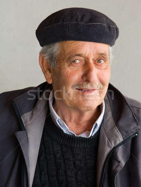 Emekli portre eski gözler sağlık hayat Stok fotoğraf © akarelias