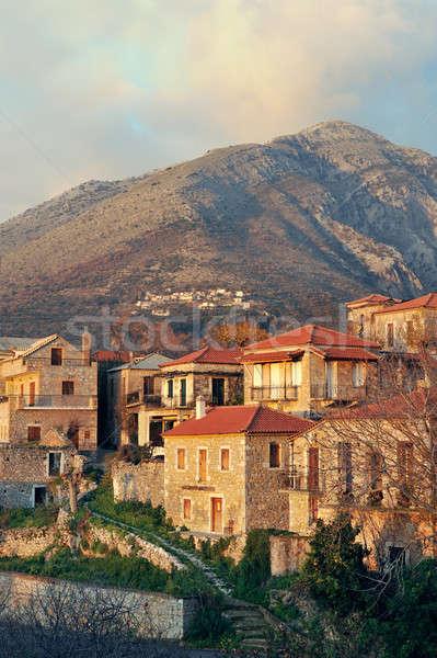 Yunan köy yarımada resmedilmeye değer geleneksel güney Stok fotoğraf © akarelias