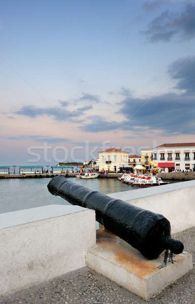 Old cannon on the island of Spetses Stock photo © akarelias
