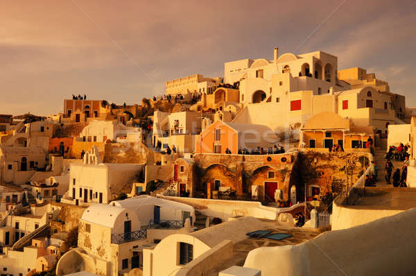 Waiting for the sunset in Oia Stock photo © akarelias