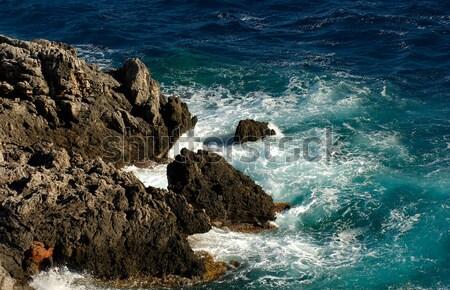 Foto stock: Rochas · imagem · tempestuoso · mar · paisagem · cor