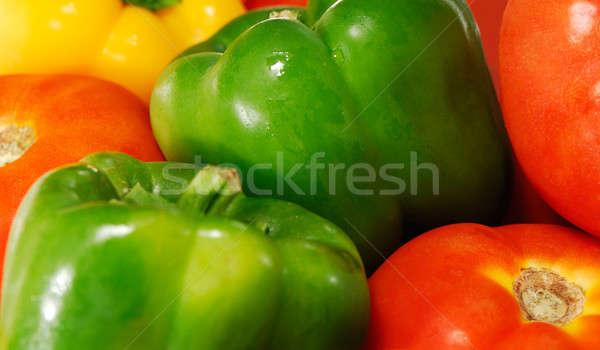 Tomates pimentas imagem Foto stock © akarelias