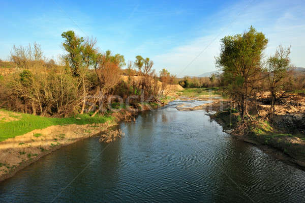 Rio Grécia paisagem imagem água Foto stock © akarelias