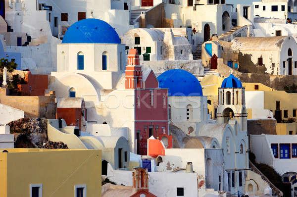 Photo stock: Village · jour · image · belle · île · santorin