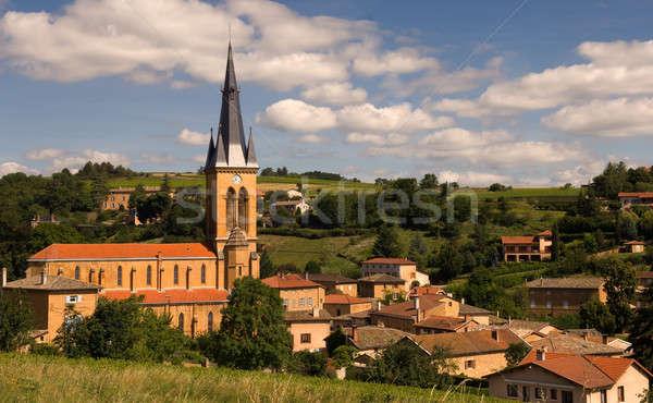 A village in Beaujolais, France  Stock photo © akarelias