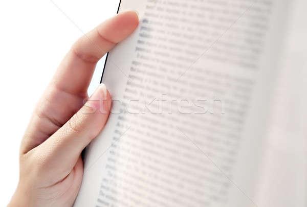 чтение книга женщины стороны положение Сток-фото © akarelias