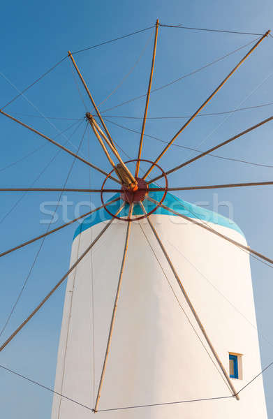 Windmill on Greek island Stock photo © akarelias