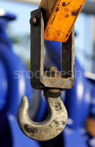Ipari lift kép kampó állvány textúra Stock fotó © akarelias