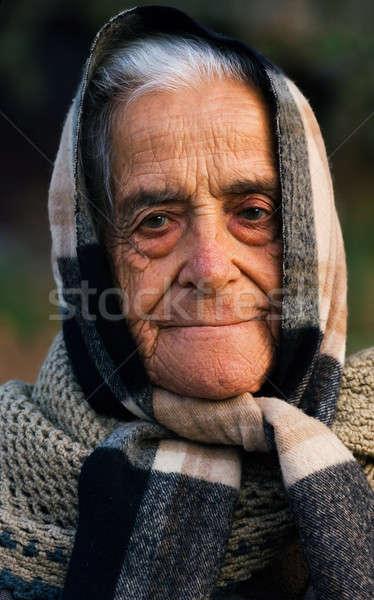 Old lady of Greece Stock photo © akarelias