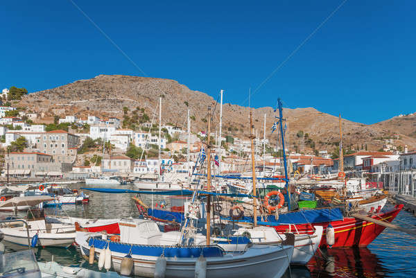 The port of Hydra, Greece Stock photo © akarelias