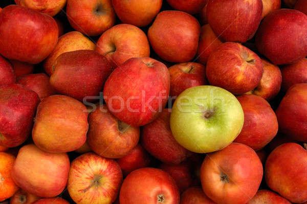 Maçãs imagem vermelho verde maçã comida Foto stock © akarelias
