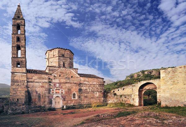 Old church in Mani, Greece Stock photo © akarelias